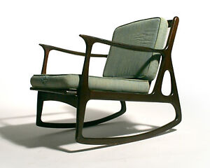 50 039 s mid century danish modern rocking lounge chair selig eames era ebay - Selig eames chair ...