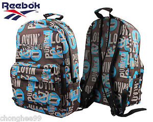 reebok graphic backpack or gym bag travel accessories bag