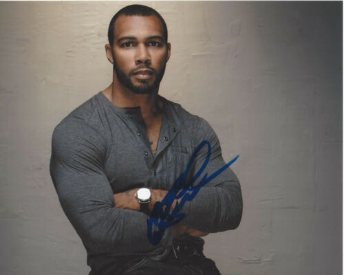 OMARI HARDWICK SIGNED AUTHENTIC 'POWER' GHOST 8X10 PHOTO B w/COA ACTOR