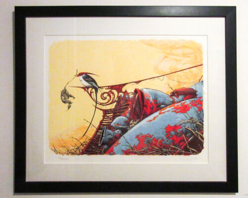 "'NESTING' by Aaron Horkey (2006) Signed & Numbered 28 x 22"" Silkscreen Art Print"