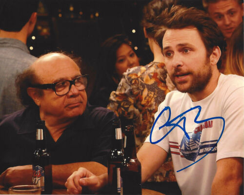 CHARLIE DAY SIGNED 'IT'S ALWAYS SUNNY IN PHILADELPHIA' 8x10 PHOTO w/COA ACTOR