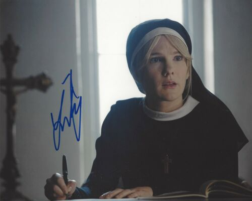 ACTRESS LILY RABE SIGNED AMERICAN HORROR STORY 8x10 PHOTO A w/COA VOLTRON VICE