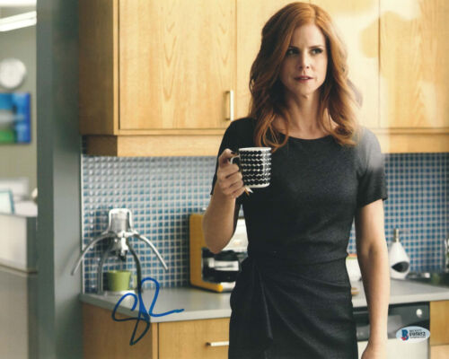 SARAH RAFFERTY SIGNED 11X14 PHOTO SUITS DONNA BECKETT BAS AUTOGRAPH AUTO A
