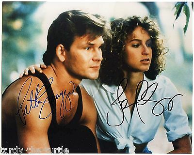 Dirty Dancing  8 x 10 Autograph Reprint Patrick Swayze Jennifer Grey
