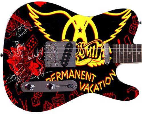 Aerosmith Autographed Permanent Vacation Album CD LP Poster Dvd Photo Guitar