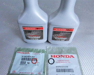 OEM GENUINE HONDA Power Steering Pump Oil O-Ring Seals & Fluid - 4 pc Reseal Kit Oem Power Steering Pump
