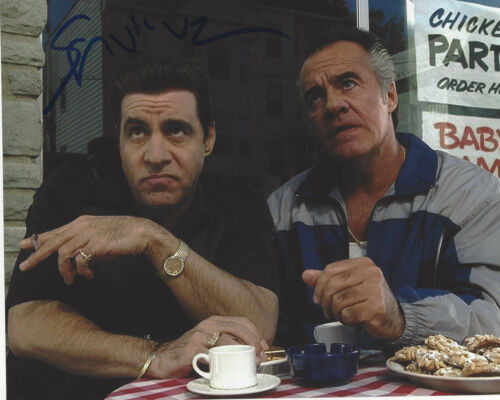 STEVEN VAN ZANDT SIGNED AUTHENTIC 'THE SOPRANOS' SILVIO 8X10 PHOTO C w/COA PROOF