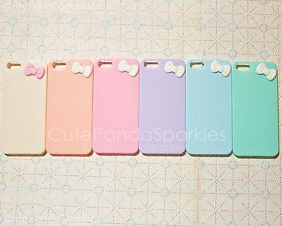 (1pc Pastel Cute Candy Color For iPhone 5 5s Hard Case with Kawaii Bow CHOOS)