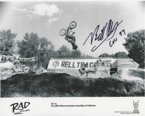 BILL ALLEN SIGNED AUTHENTIC 'RAD' MOVIE 8x10 PHOTO B w/COA ACTOR CRU JONES 1986