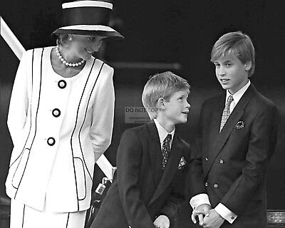 PRINCESS DIANA WITH SONS PRINCE WILLIAM AND PRINCE HARRY - 8X10 PHOTO (ZY-440)