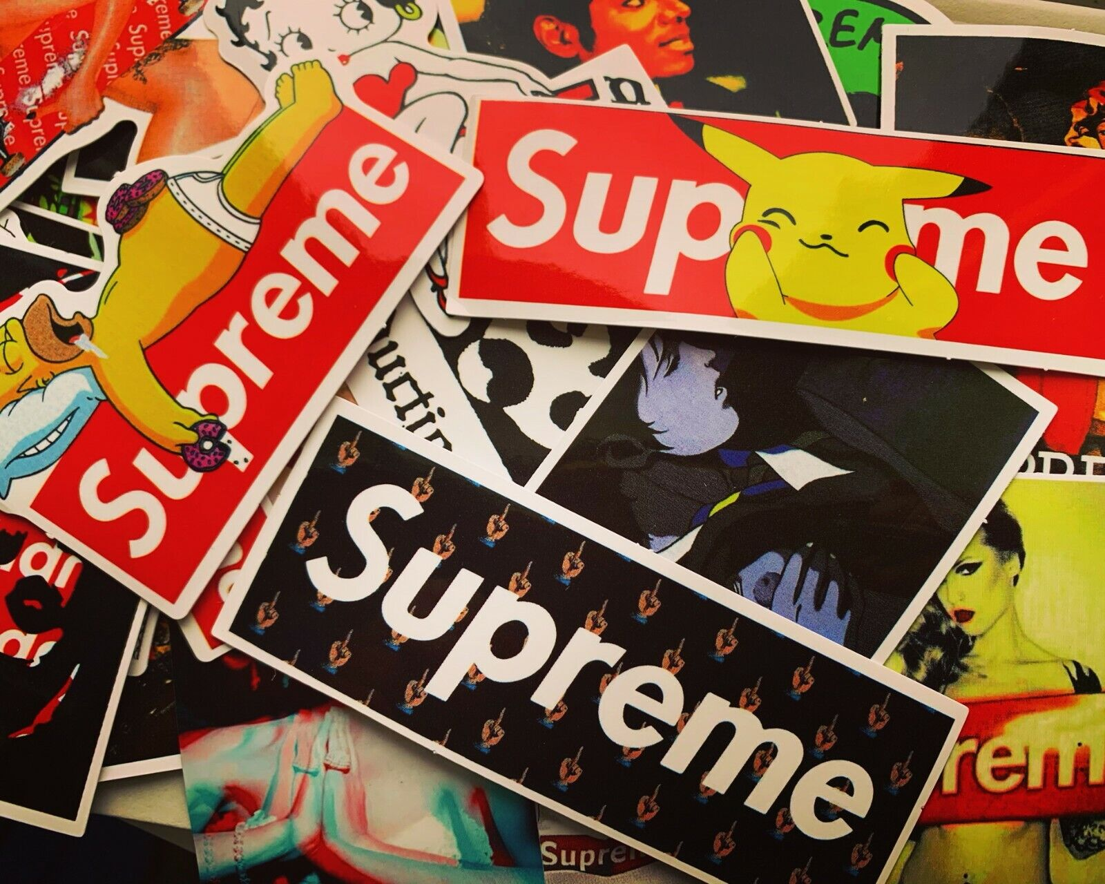 Home Decoration - 50 Supreme Hypebeast Stickers for Hydro Flasks, Laptops, Skateboards - USA STOCK
