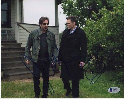 Joel Mchale David Duchovny Signed The X Files 8X10 Photo  Autograph Psa Bas Coa