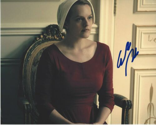 ACTRESS ELISABETH MOSS SIGNED 8x10 PHOTO A w/COA MAD MEN THE HANDMAID'S TALE