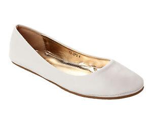 NEW WOMENS WHITE FLAT DOLLY PUMPS/SHOES UK SIZE 3 - 8 | EBay