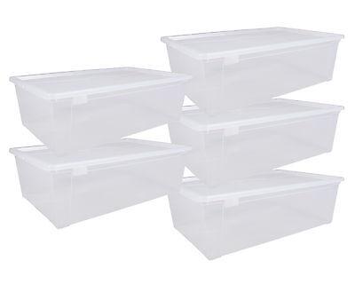 Aufbewahrungsbox Sammelbox Lagerbox Stapelbox Unterbettbox Easy XL 5 Stück! NEU