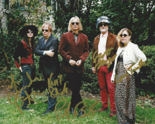 FILTHY FRIENDS BAND SIGNED AUTHENTIC 8X10 PHOTO COA PETER BUCK CORIN TUCKER X5