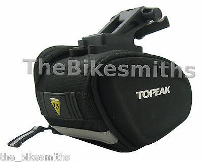 Topeak TC2281B Sidekick Small Wedge Seat Bag Black Clip-in Bike Saddle Pack  ()