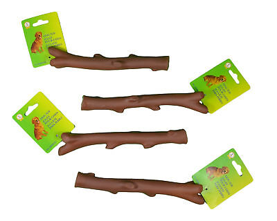 "Set of 4 Tree Branch Dog Toy 8"" Fetch Stick With Squeaker K0940-02"