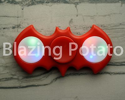 Light Up LED Bat Fidget Hand Spinner Figet Desk Toy Focus EDC ADHD ☆USA☆ RED