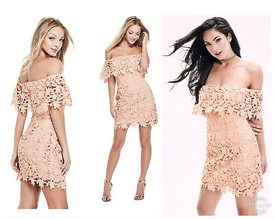 Used,  GUESS OFF SHOULDER LACE DRESS  for sale  Shipping to India