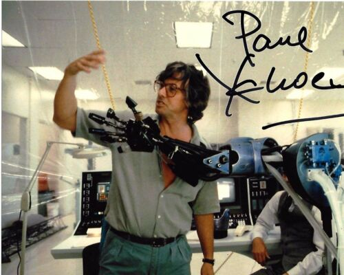 DIRECTOR PAUL VERHOEVEN SIGNED ROBOCOP MOVIE 8x10 PHOTO A w/COA BASIC INSTINCT