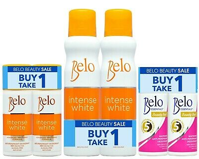Belo Anti-Perspirant Deodorant Essentials / Intense Whitening 40ml Roll-On/Spray Anti Perspirant Roll