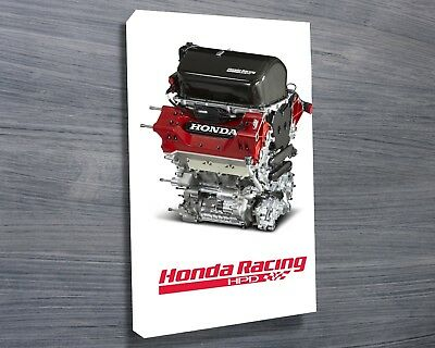 Honda Racing HPD V6 Engine - 30x20 Inch Canvas - Framed Picture Print for sale  Kirk Michael
