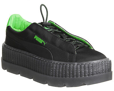 PUMA x FENTY by RIHANNA Women's Cleated Creeper Trainers UK 5 6, Black