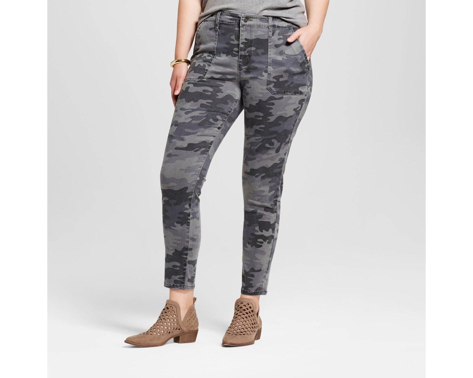 e9682c85ed043 Women's Plus Size Utility Jeggings - Ava & Viv™ Camo NWT 24W | eBay