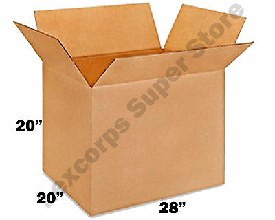 5 Qty 28x20x20 Shipping Boxes Heavy Duty