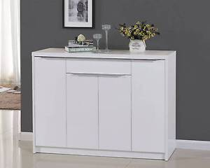 1.28M Gloss White Shoe Cabinet with Chrome Handle 36 Pairs Mordialloc Kingston Area Preview