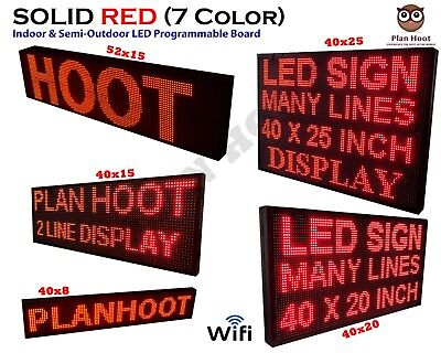 Multiple Dimesnions Led Red Color Wifi Indoor Semi-outdoor Scrolling Sign