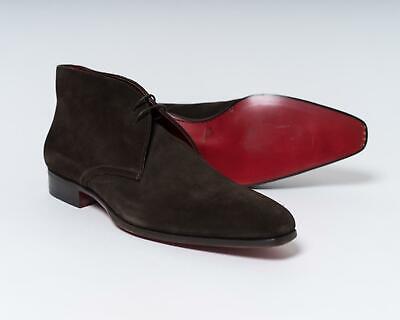 Santoni $750 NIB Dark Brown Suede Leather Ankle Boot Chukka Shoe 8.5 UK 9.5 US