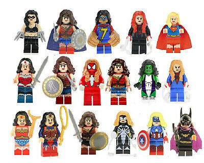Super Hero Mini Figures Wonder Woman Wasp Captain Marvel DC Girls Free Gift Bag](Children's Gift Bags)