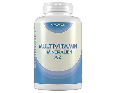 Multivitamine + Mineralien A-Z - 365 Tabletten Jahresvorrat Multivitamin vegan