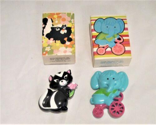 Vtg.1972 Avon kids Sniffy Skunk Pin Pal Fragrance Solid Perfume + Pedal Pusher
