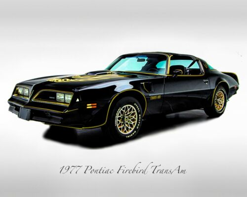 Classic Cars Print - 1977 Pontiac Firebird Trans Am - Muscle Car Print