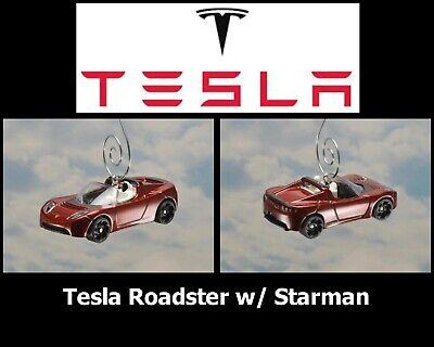 Elon Musk Spacex Tesla Roadster Con / Starman Traje Navidad Ornamento Eléctrico