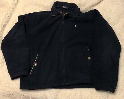 Polo Ralph Lauren Full Zip Polartec Fleece Jacket Navy Blue  Size L made in USA