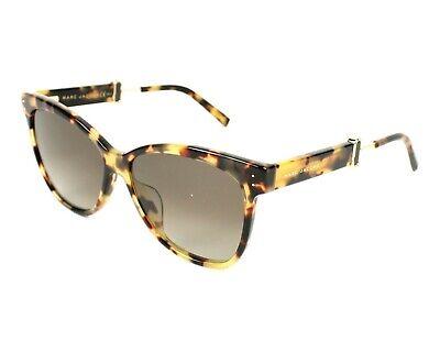 $230 MARC JACOBS 130/S 00FHA 55 14 140 V Brown Tortoise Sunglasses Cat (Marc Jacobs Women's Cat Eye Sunglasses)
