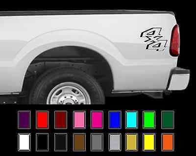 - 4x4 Truck Bed Decal Set Ford Super Duty F250 F150 Vinyl Stickers