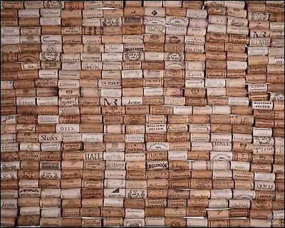 NATURAL ASSORTED BORDEAUX NAPA VALLEY RED WINE CORKS LOT FOR ARTS & (Wine Cork Art)