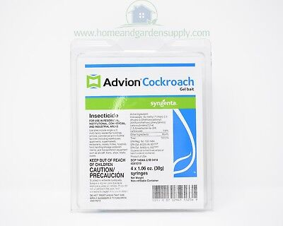 Syngenta Advion Cockroach Gel Bait 1 Box (4 Tubes, 2Tips and 1 Plunger) DuPont