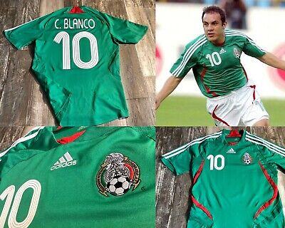Mexico Futbol Soccer El Tri Adidas Used XL Jersey Cuauhtemoc Blanco America