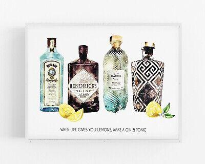 Gin Print,Alcohol Wall Print,Hendricks Wall Art,Kitchen Print,Decor,Dining Room Dining Decor Art Print