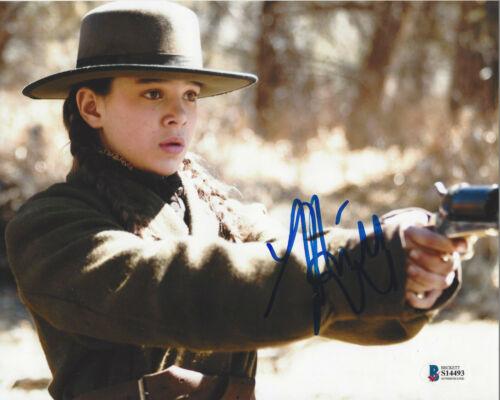 HAILEE STEINFELD SIGNED 'TRUE GRIT' 8x10 MOVIE PHOTO ACTRESS BECKETT COA BAS