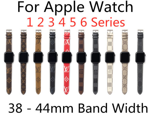 New Leather iWatch Band for Apple Watch 1 2 3 4 5 6 series/ 38 40 42 44 mm