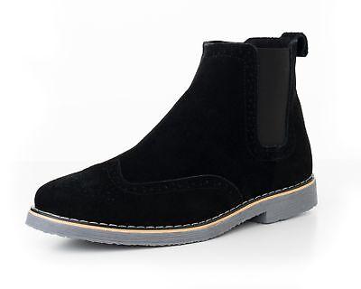 Alpine Swiss Mens Chelsea Boots Genuine Suede Dress Ankle Bo