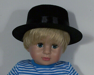 BLACK Dress-UP Costume TOP HAT Doll Clothes For 18