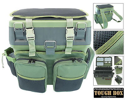 Fishing Seat Box & Rucksack RODDARCH Sea Coarse Fishing Bag Back Pack Ruck Sack
